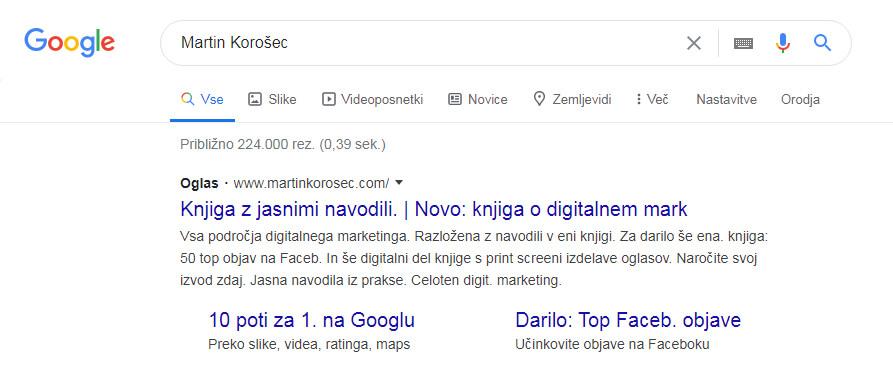 Oglasi na iskalnem omrežju Google