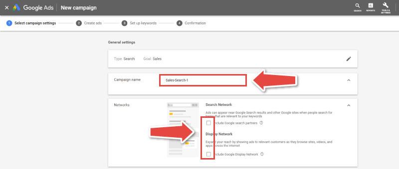 google-oglasevanje-google-ads-ustvari-kampanijo-tretji-korak