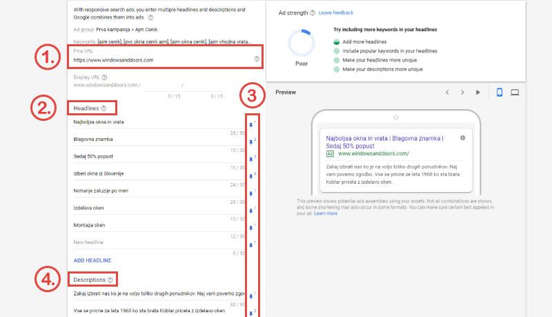 google-oglasevanje-ustvari-responsive-oglas-izbira-naslova-oglasa