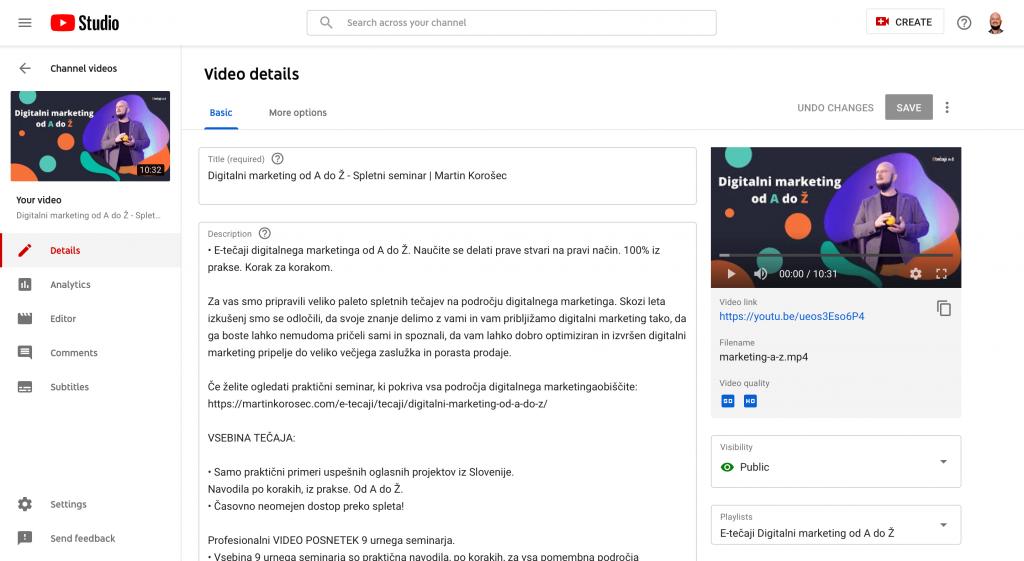 Youtube oglaševanje -Zakaj izbrati video oglaševanje -Martin Korošec